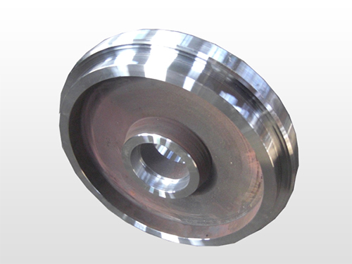 Cast steel wheel